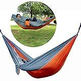 SUMERSHA Tragbare Hängematte Double Hängematte Travel Camping Nylon Grau und