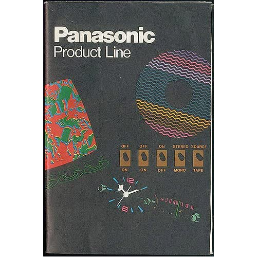 Panasonic Product Line brochure circa 1972, Matsushita Electric Corp. of America