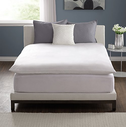 Great Features Of Pacific Coast® Feather Bed Cover w zip closure Queen(feather bed not included) 15...