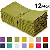 Cotton Craft Napkins, 12 Pack Oversized Dinner Napkins 20x20 Lime, 100% Cotton, Tailored with Mitered corners and a generous hem, Napkins are 38% larger than standard size napkins