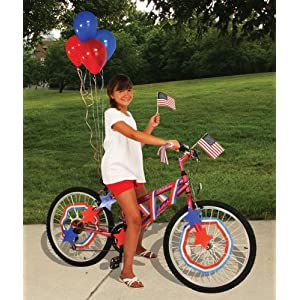 fourth of july bike decorating