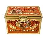 Amaretti Tradizionali Traditional Italian Biscuits in Large Souvenir Tin (8.8 oz, 250 g)