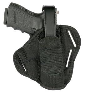 "BLACKHAWK! 3-Slot Ambidextrous Black Pancake Holster, Size 00, (2-3"" Barrel Sm/Med DA Revolver ex 2"" 5-shot )"