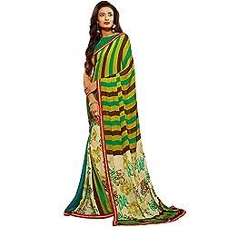 Vasu Saree For Women Multi Color Crepe Jacquard Printed Party Casual Wear to work Saree