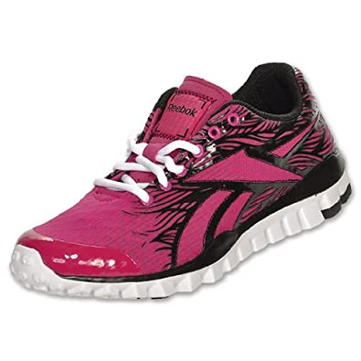 REEBOK Realflex Trainer Women's Training Shoes, Black/Pink/White