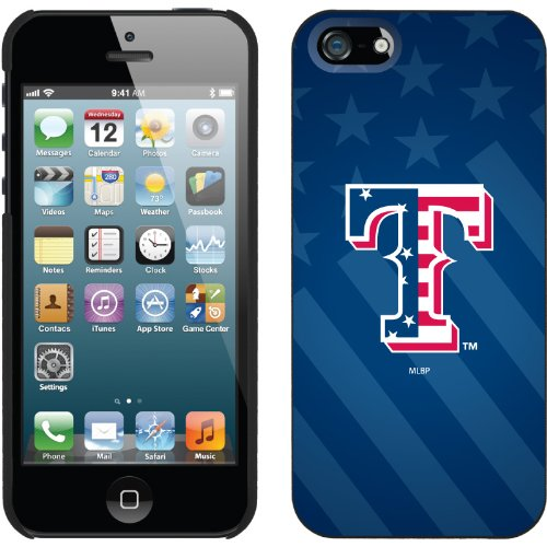 Special Sale Texas Rangers - USA Blue design on a Black iPhone 5 Thinshield Snap-On Case by Coveroo