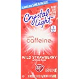 """Crystal Light on the Go """"Caffeine"""" Wild Strawberry Drink Mix 10 Ct (Qty of 10)"""