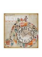 Especial Deco Vertical Reloj De Pared Bicicle