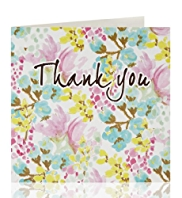 Thank You Floral Pattern Greeting Card