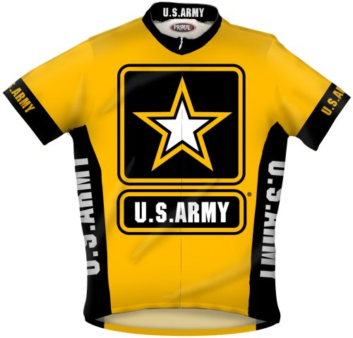 Buy Low Price Primal Wear Men's US Army Military Short Sleeve Cycling Jersey – USAR6JER (USAR6JER)