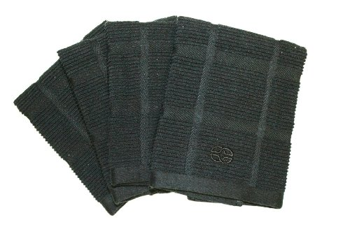 Calphalon 4-Piece Solid Dish Cloth Set, Black Licorice