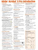 Adobe Acrobat X Introduction Quick Reference Guide (Cheat Sheet of Instructions, Tips & Shortcuts - Laminated Card)