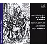 Bach - Passion selon Saint Matthieu ( intgrale 3 CD )par Philippe Herreweghe