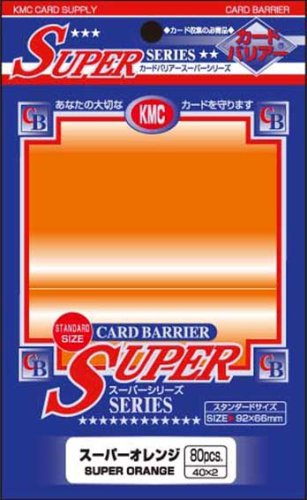 KMC - KMC 80 pochettes Card Barrier Super Series Super Orange