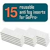 FogFree 15 Anti-Fog Inserts for GoPro HERO4 HERO3+ HERO3 HERO2 (Original FogFree)