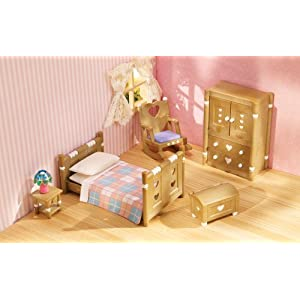 Calico critters country bedroom furniture set for Bedroom furniture amazon