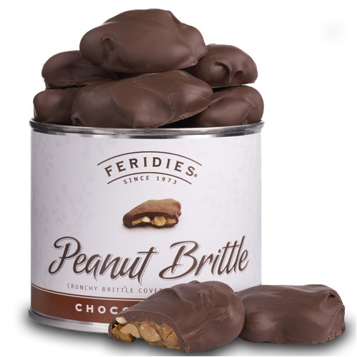 9 oz Can Chocolate Covered Peanut Brittle