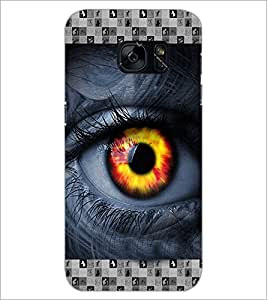 PrintDhaba Eye D-3615 Back Case Cover for SAMSUNG GALAXY S7 (Multi-Coloured)
