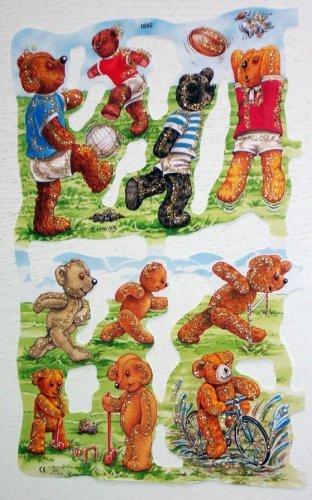 Glanzbilder MLP 1892 Bären beim Sport Glimmer