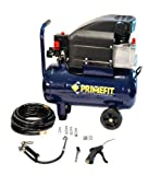 Primefit CMK1004 6-Gallon Air Compressor Kit with Inflator, Pistol Blow gun, Hose, 5-Piece Kit