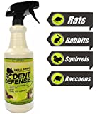 Rodent Defense - Small Animal Deterrent and Repellent Spray 0.9L Bottle - For Rats, Squirrels, Rabbits, Cats, and Other Small Animals / Rodents.