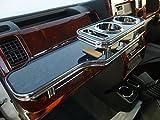 数量限定  S500系ハイゼットトラック フロントテーブル ブラックウッド 携帯ホルダー助手席側 ブラックフルメッキ