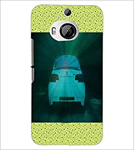 PrintDhaba Car D-5842 Back Case Cover for HTC ONE M9 PLUS (Multi-Coloured)