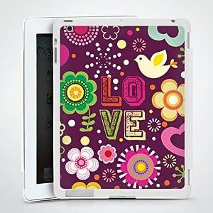 Tablette Case étui Coque pour Apple iPad 2 HardCase white - 60s Love