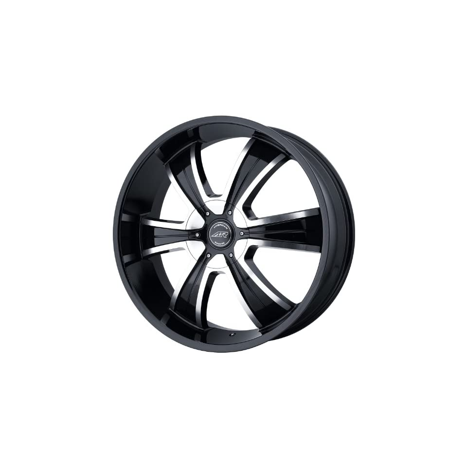 American Racing Custom Wheels AR894 Gloss Black Wheel With Machined Face (20x8.5/5x114.3, 127mm, +35mm offset)