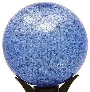 """Achla 12"""" Gazing Globe Blue Lapis Crackle"""
