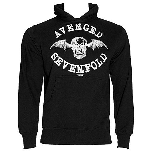 Avenged Sevenfold -  Felpa con cappuccio  - Maniche lunghe  - Uomo nero Small