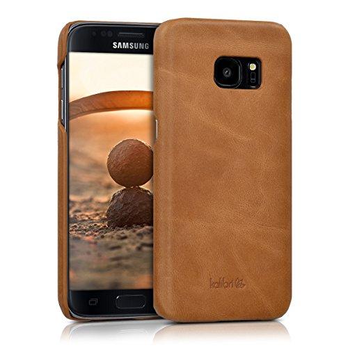 kalibri-Backcover-Hlle-aus-Echtleder-fr-Samsung-Galaxy-S7-in-Cognac