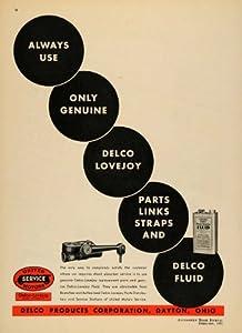 1935 Ad Delco Products Corporation Dayton Ohio Parts - Original Print Ad
