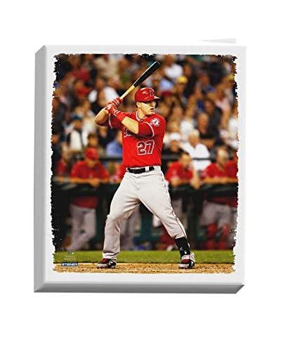 Steiner Sports Memorabilia Mike Trout Stretched Canvas, 26 x 22
