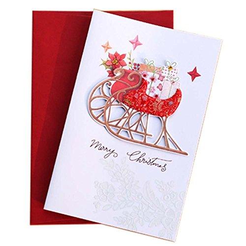 5 st weihnachtskarten feiertags gru karten segen. Black Bedroom Furniture Sets. Home Design Ideas