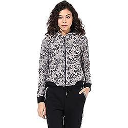 Cashewnut Women Basic Solid Sweatshirts Jackets-L
