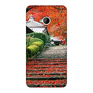Impressive Stairs Garden Multicolor Back Case Cover for HTC One M7