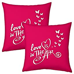 Indicraft Designer Printed Filled Cushions Pair Standard Multi-Color