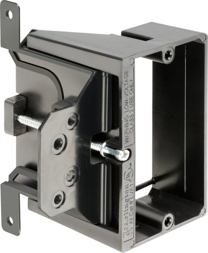 Arlington LVA1-25 Adjustable Depth Low Voltage Mounting Brackets, Fits up to 1-1/2-Inch Walls, 1-Gang, 25-Pack