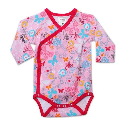 Zutano Baby-Girls Infant Summer Dream Long Sleeve Body Wrap, Blush, 6 Months front-991984