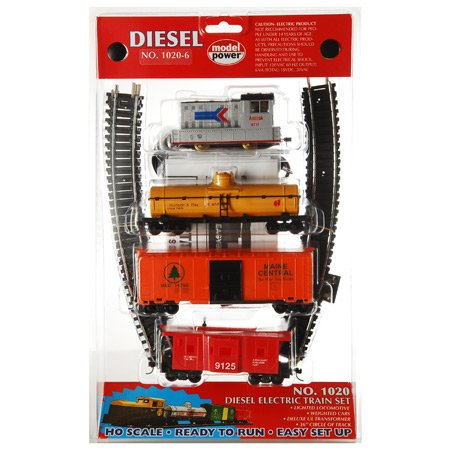 Model Power HO Diesel Train Set, Amtrak MDP10206
