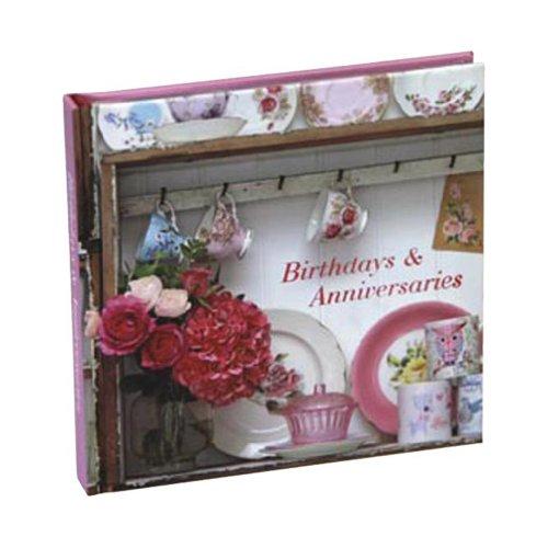 Romantic Flowers Birthdays and Anniversaries Book