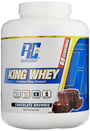 Ronnie Coleman Signature Series King Whey, Leading Whey Protein With Added Whey Isolate, Chocolate Brownie, 5 Pound (Ronnie Coleman Whey Protein compare prices)