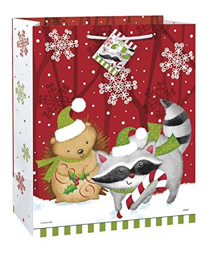 Large Woodland Christmas Gift Bag