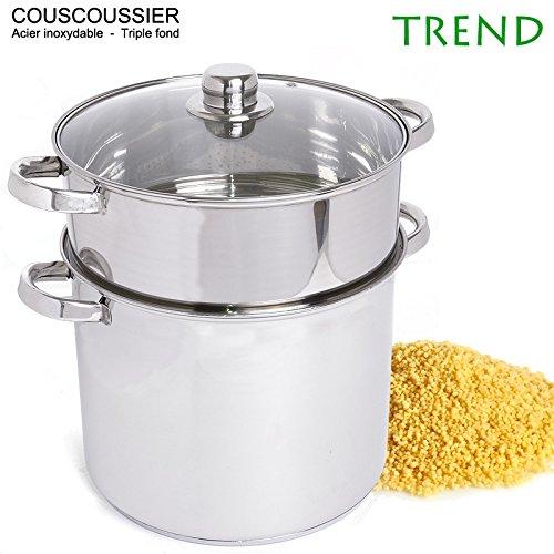 Couscoussier Trend 11L 26cm triple fond Inox
