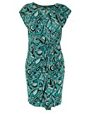 Michael Kors Tile Blue Jersey Cap Sleeve Faux Wrap Dress X-Large
