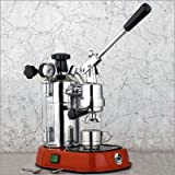 La Pavoni PR-16 Professional Espresso Machine with Red Base
