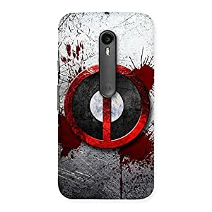 Impressive Bleed Dead Multicolor Back Case Cover for Moto G3