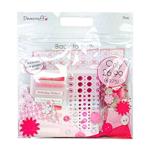 dovecraft-back-to-basics-confezione-di-accessori-per-arti-creative-per-carta-colore-rosa