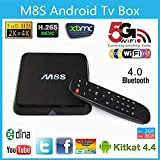 PINWHEEL M8S S812 Quad-Core Android 4.4 4k Smart TV Box 2g/8G Streaming Media Player Hdmi Kodi XBMC Fully-loaded Smart HTPC WiFi Bluetooth (M8S)